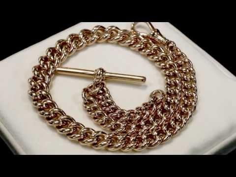 18ct gold double albert chain