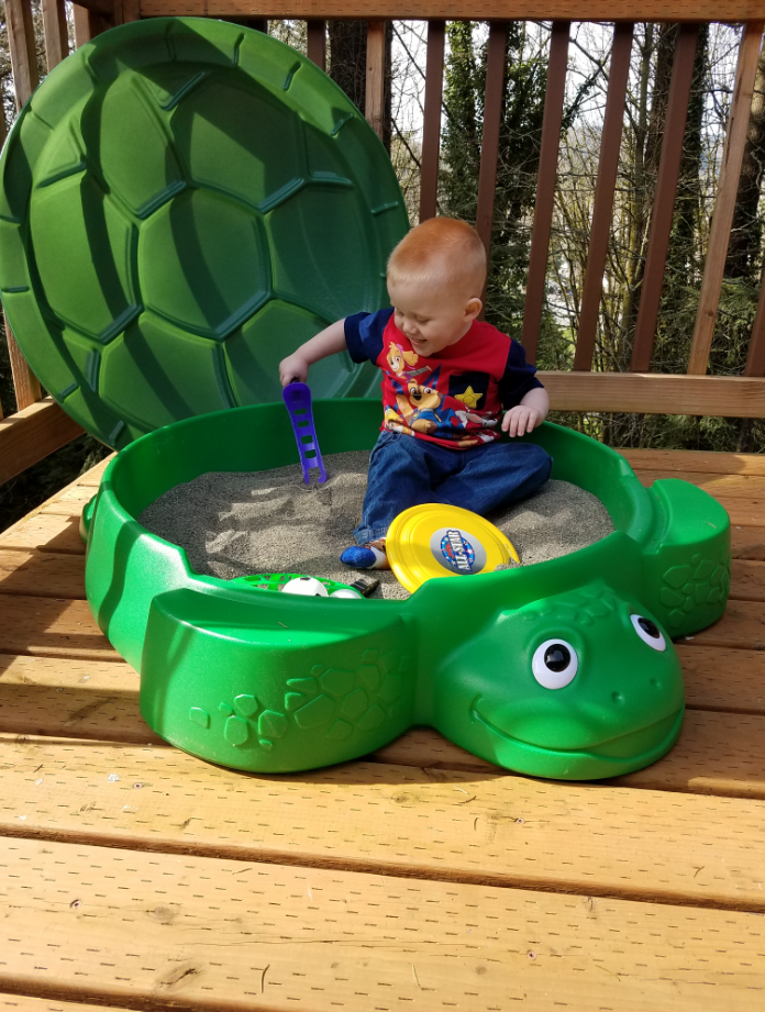 """784478b0d6 Dig into summer fun with the Little Tikes Turtle Sandbox! This classic  kid's toy is on sale now at Toys""""R""""Us."""