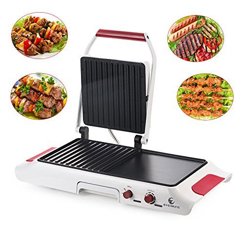 Multifunctional Searing Grill And Griddle Combo Everking Adjustable Temperature Indoor Electric Griddle Household