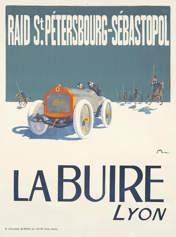 la buire lyon raid st petersbourg s bastopol 1911 ernest montaut posters. Black Bedroom Furniture Sets. Home Design Ideas
