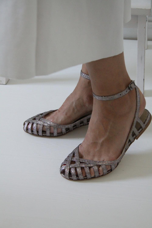 Anniel Silver Victoria Kafkaconcept Heels Balerina Shoes