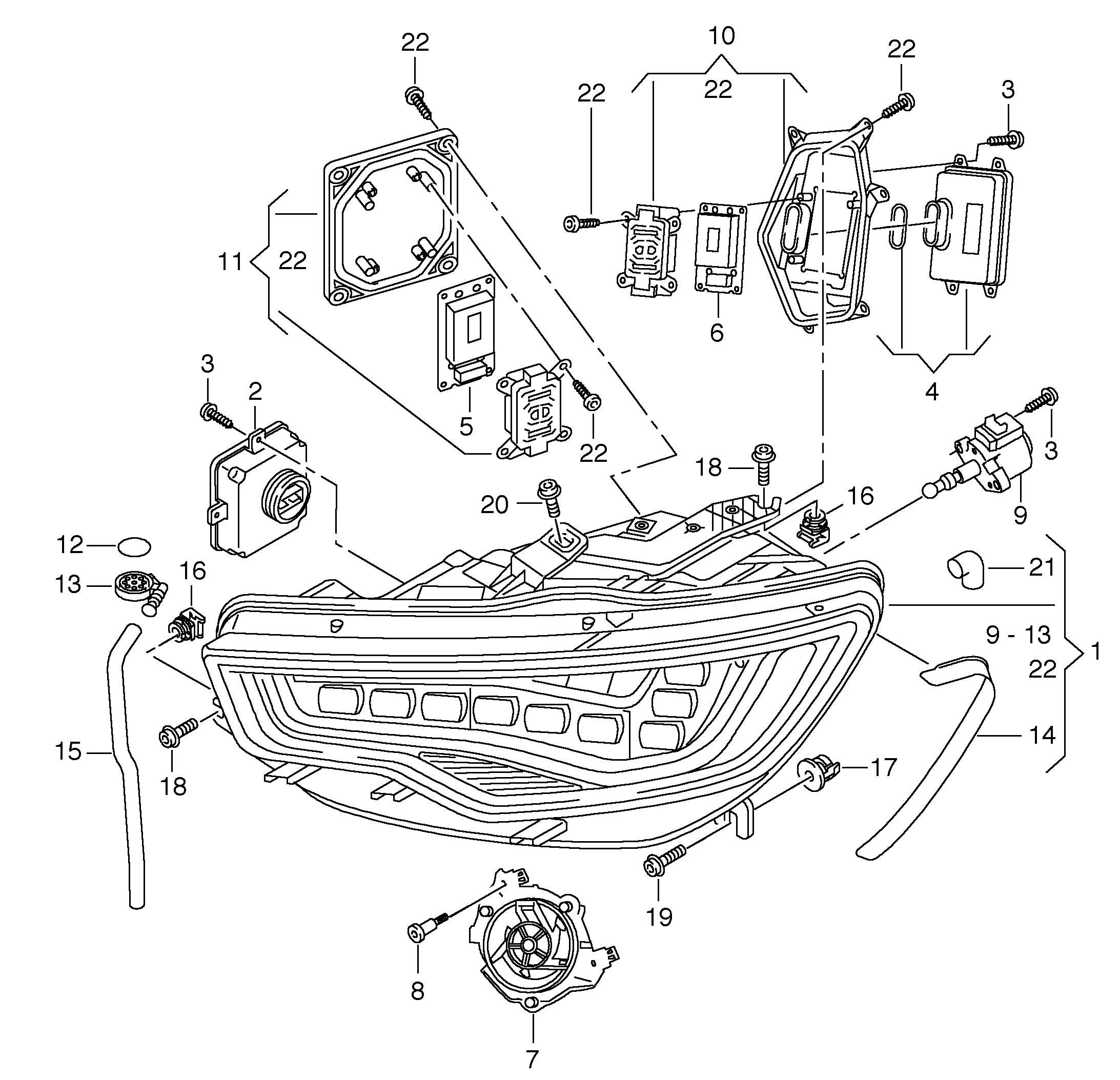 image result for audi a7 2012 led headlight wiring diagram [ 2185 x 2107 Pixel ]