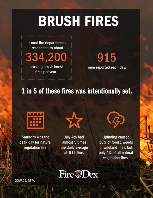 Brush Fire Infographic Brush Fire Firefighter School