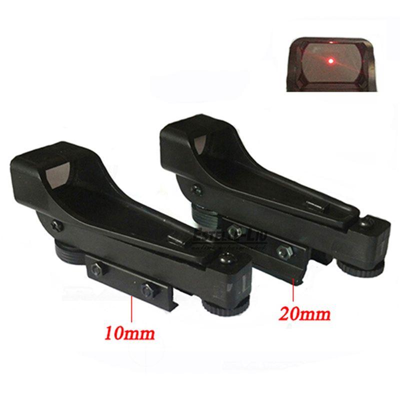 전술 리플렉스 레드 도트 사이트 범위 넓은 공기총 10/20 미리메터 위버 레일 Mounts1x20x30 Riflescope 장난감 총