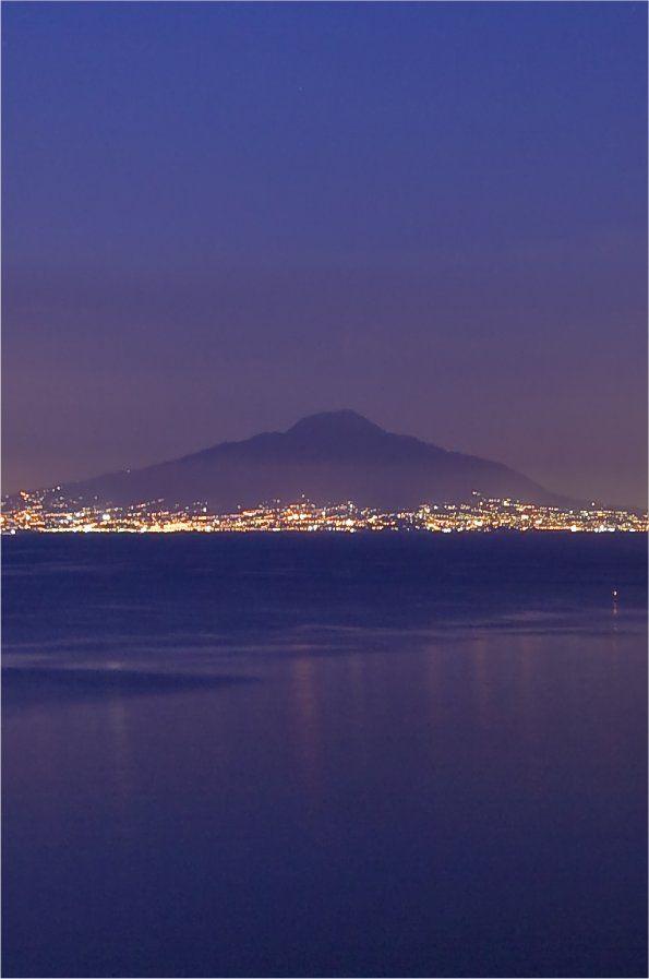 Mount Vesuv by Night, Neapel Italy