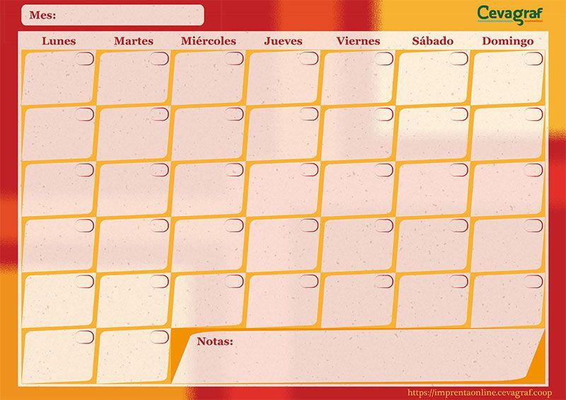 Planificador Mensual Imprimible (5 modelos) | Plantillas de ...