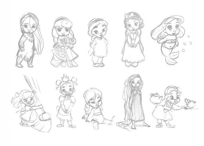 Animators disney princesses amandine pinterest chambre princesse cheveux brillants et boudeur - Toutes les princesse disney ...