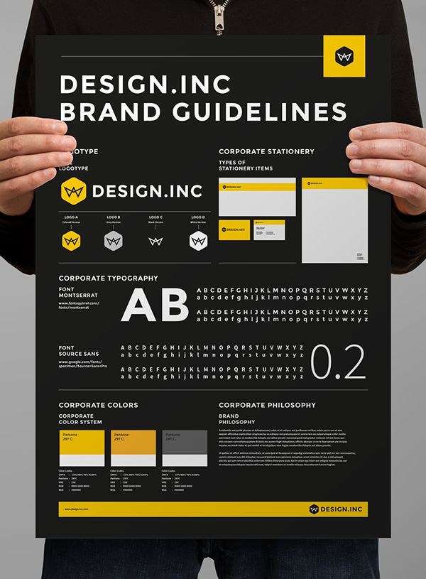 Brand Manual and Identity PosterMinimal and Professional Brand - how to manual template