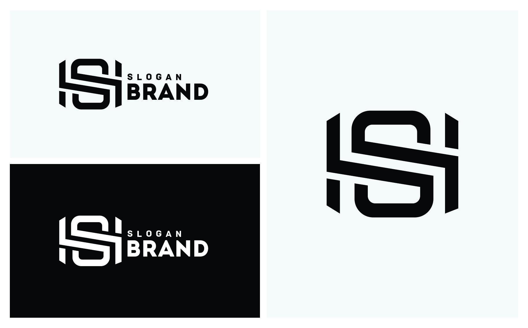 SH Letter Logo Template 64696 Letter logo, Lettering