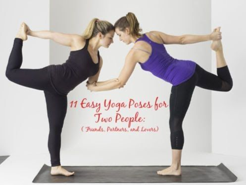 easy beginner two people 2 person yoga poses in 2020