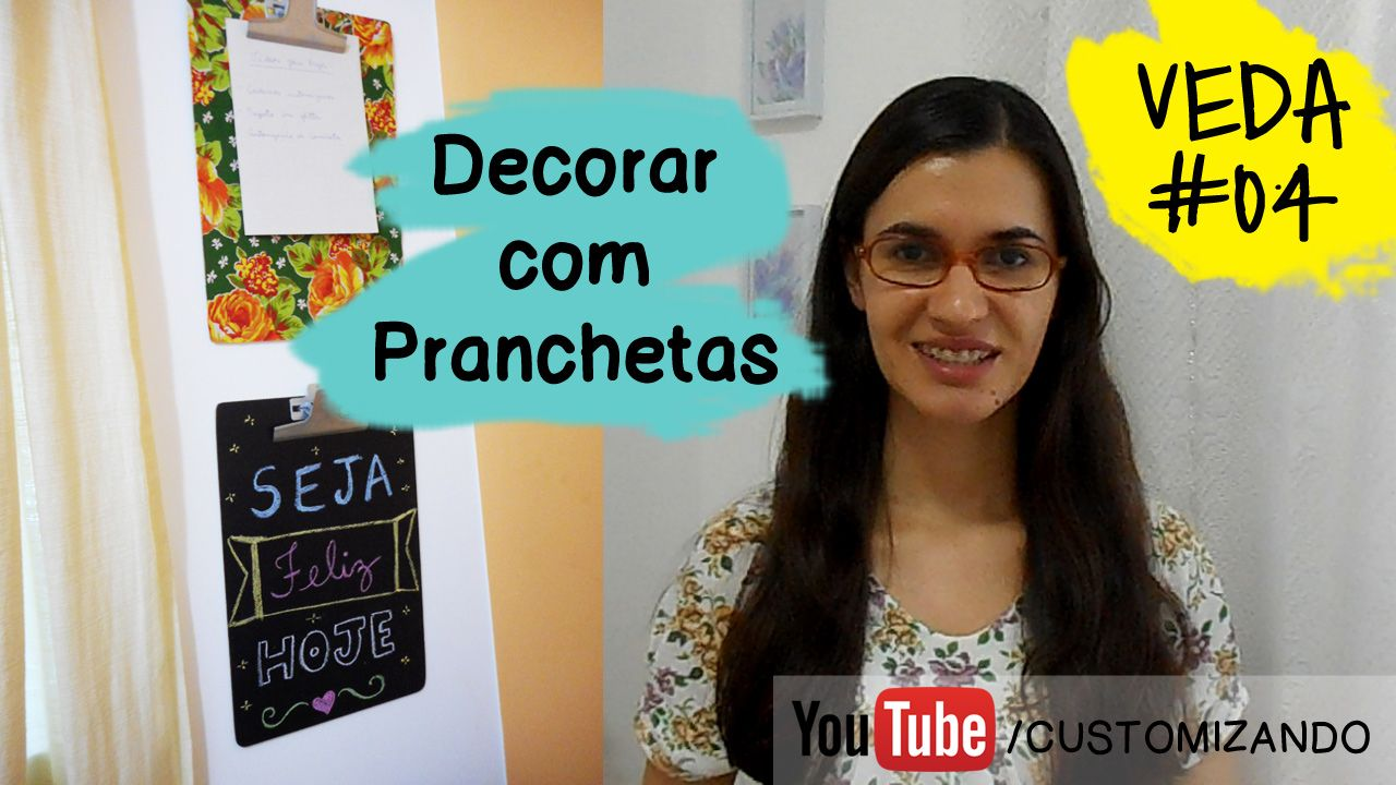 COMO CUSTOMIZAR PRANCHETAS - Assista o vídeo: https://youtu.be/Rk__eodO1Yg - Leia no blog: http://customizando.net/como-customizar-pranchetas-para-decorar/