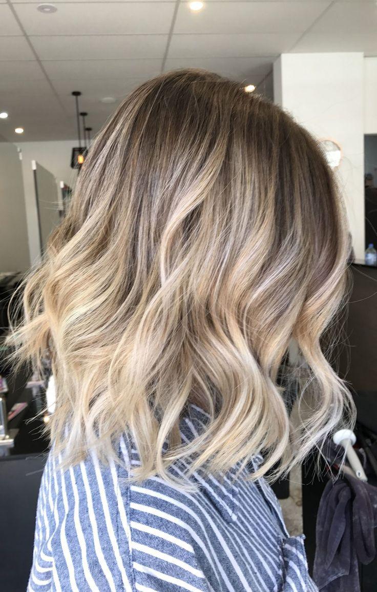 20 blonde Balayage-Ideen für kurzes glattes Haar | Kurze