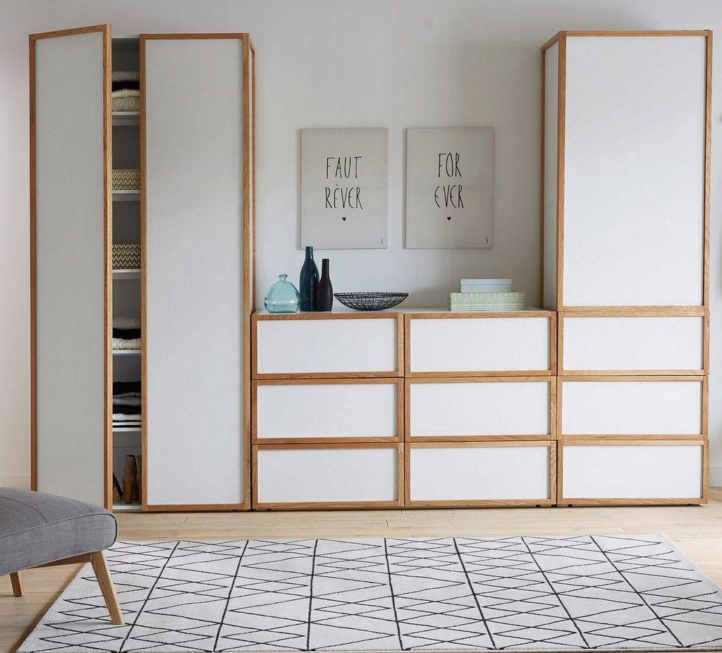 Un dressing blanc et bois pour la chambre | Dressing blanc ...