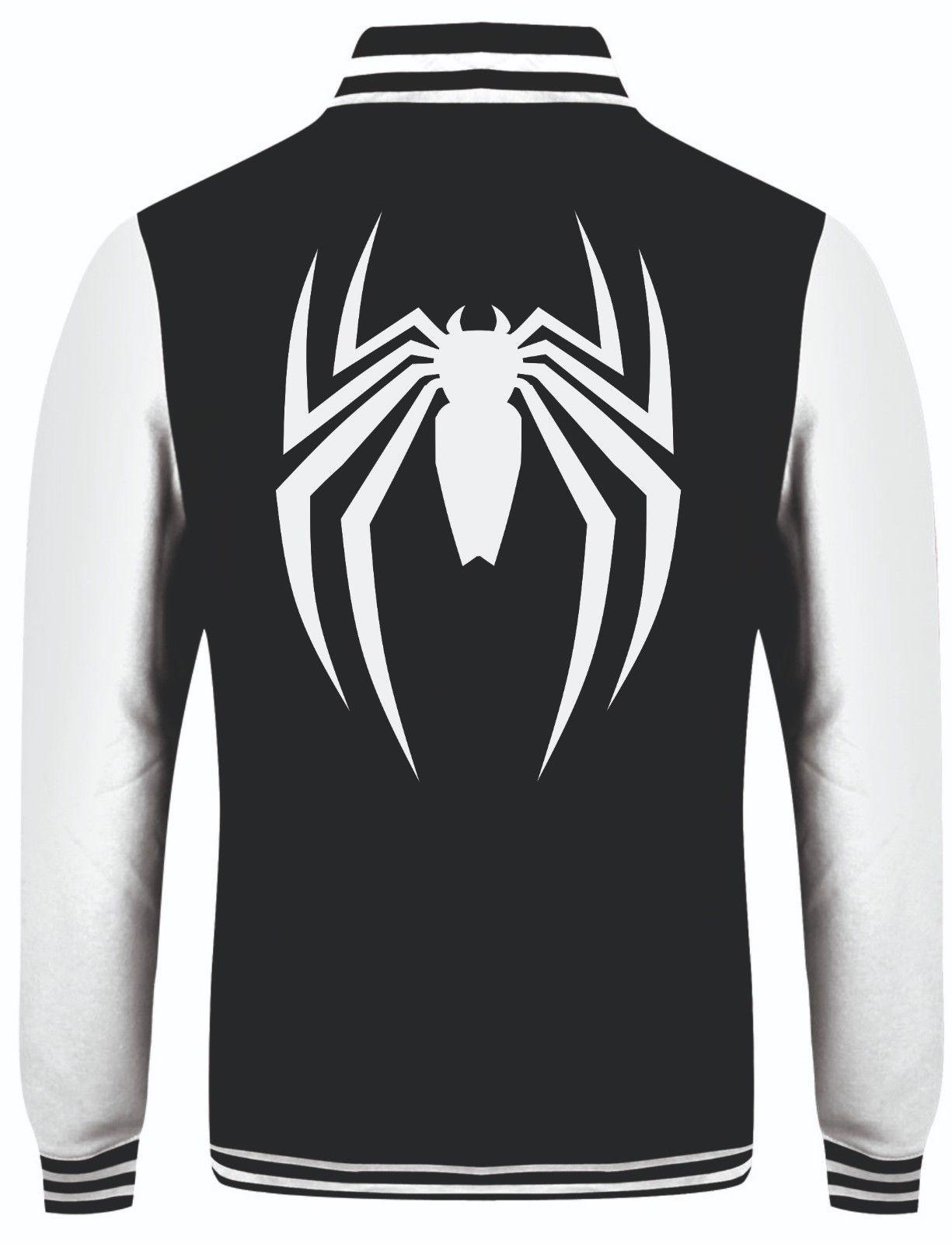 Spiderman Varsity Jacket Men's PS4 Top Superhero PlayStation