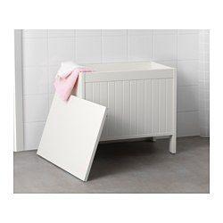 SILVERÅN Säilytyspenkki, valkoinen - - - IKEA