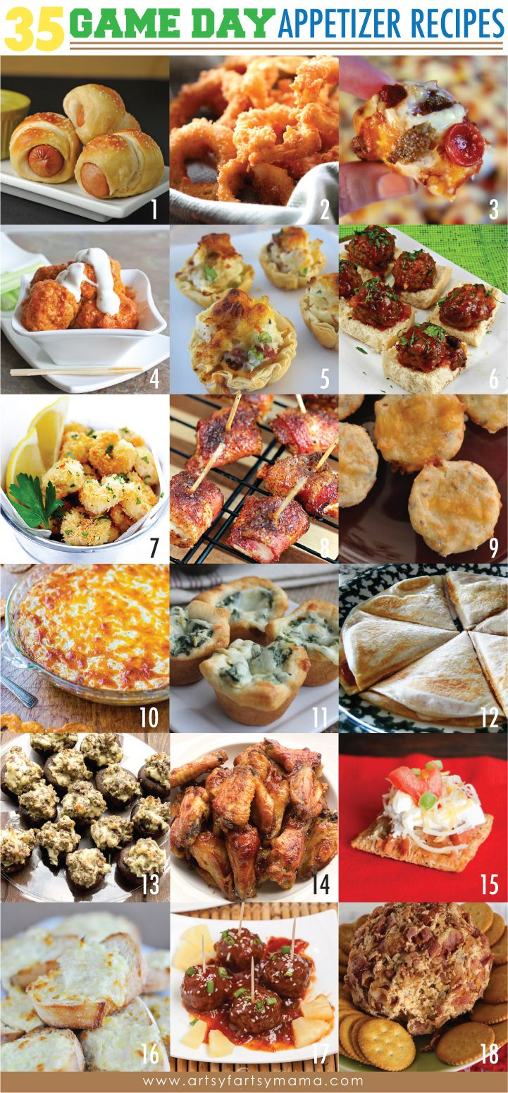 35 Game Day Appetizer Recipes Appetizer recipes, Food