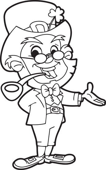 leprechaun coloring page 2 coloring pages for kids pinterest