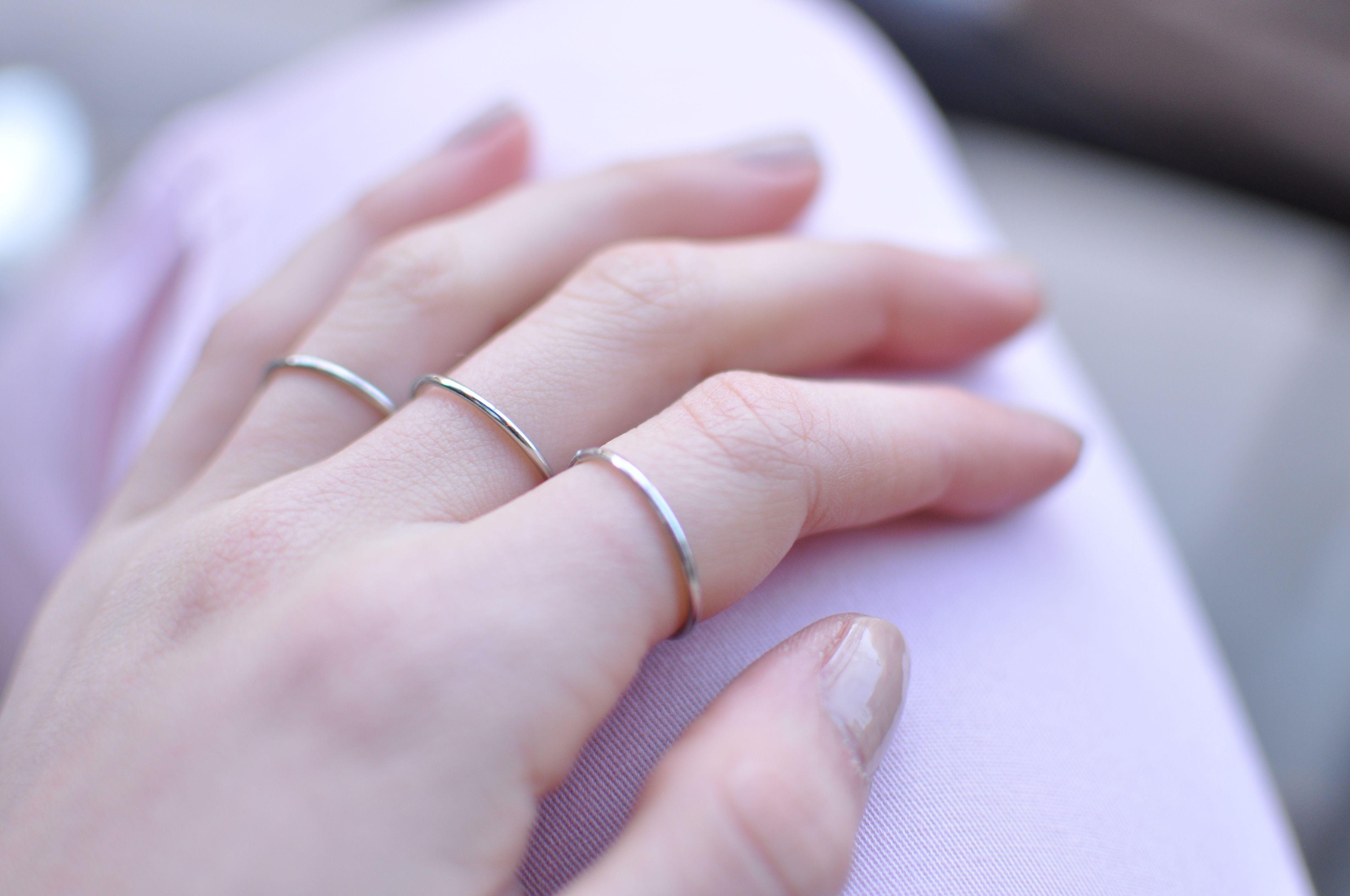 tunn silverring