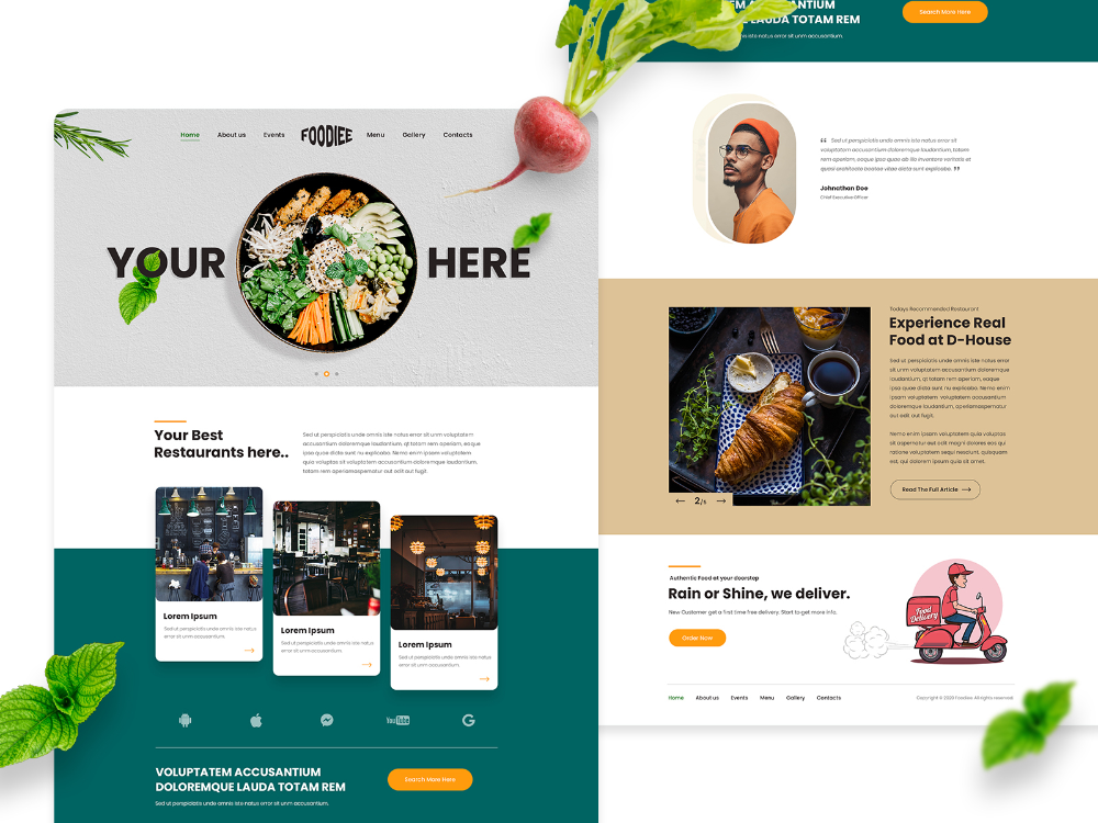Food Delivery Service App Landing Page Design In 2020 Meal Delivery Service Food Delivery Delivery Service App