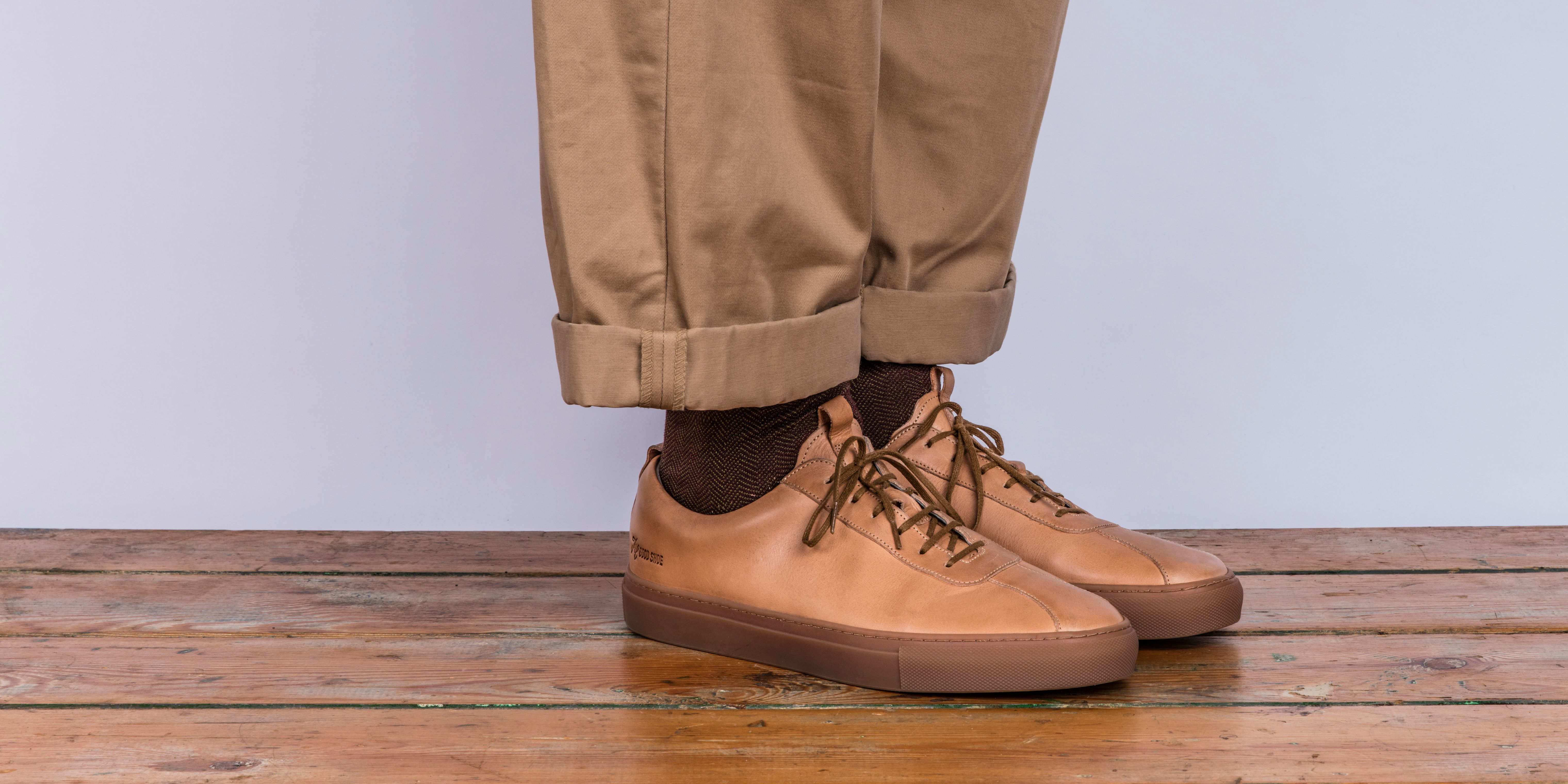 Sneaker 1 in Natural Cuoio Calf Leather