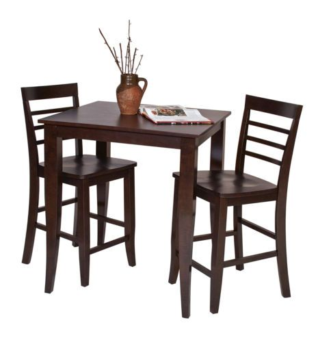New Home Kitchen Pub Bar Patio Dining Family Room Wood Furniture Table Espresso | eBay