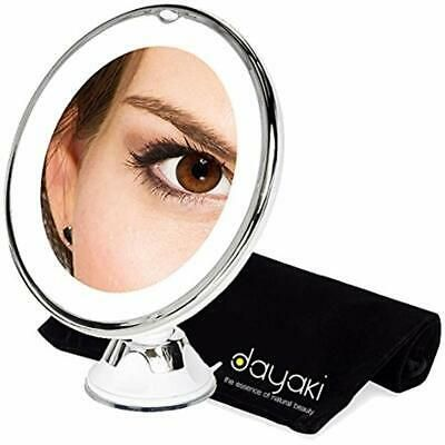 Details about Magnifying Travel Lighted Makeup Mirror 10