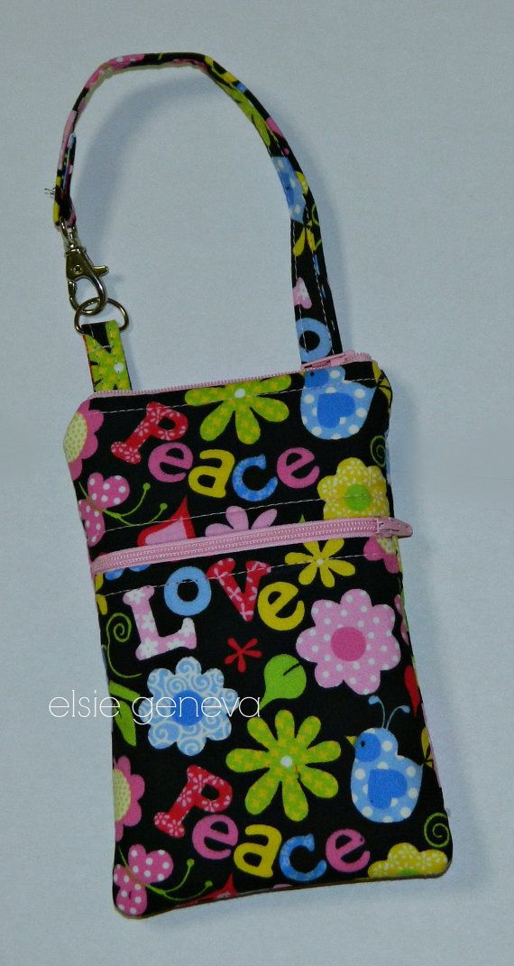 Ready to Ship Peace and Love Butterflies Floral by elsiegeneva