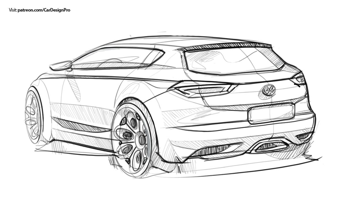 Car sketches set 1 15 on behance