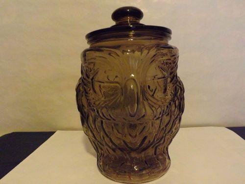 Vintage Libbey Glass Owl Cookie Jar Excellent Condition Owl Cookie Jar Glass Glass Design