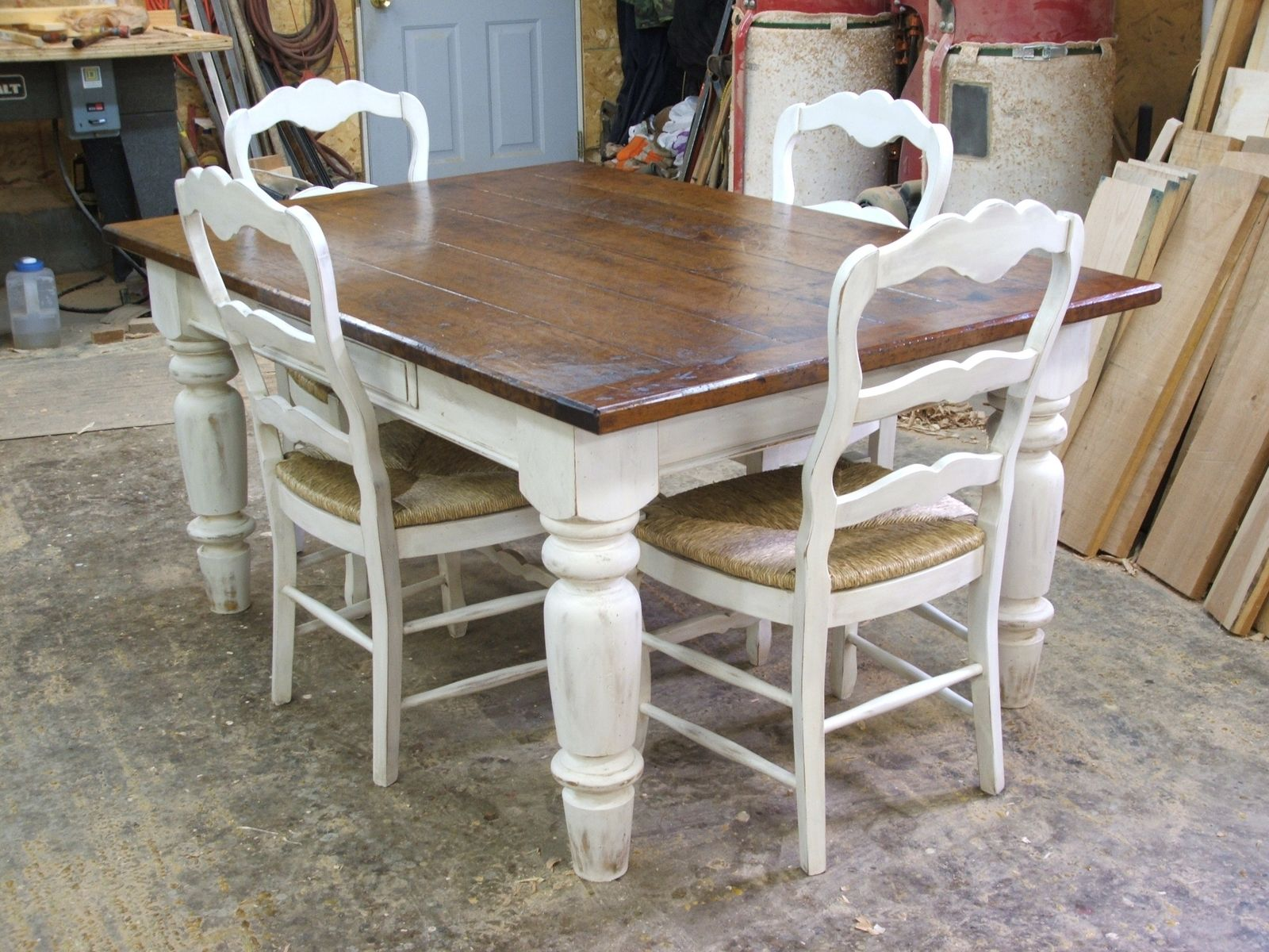 White And Timber Dining Table