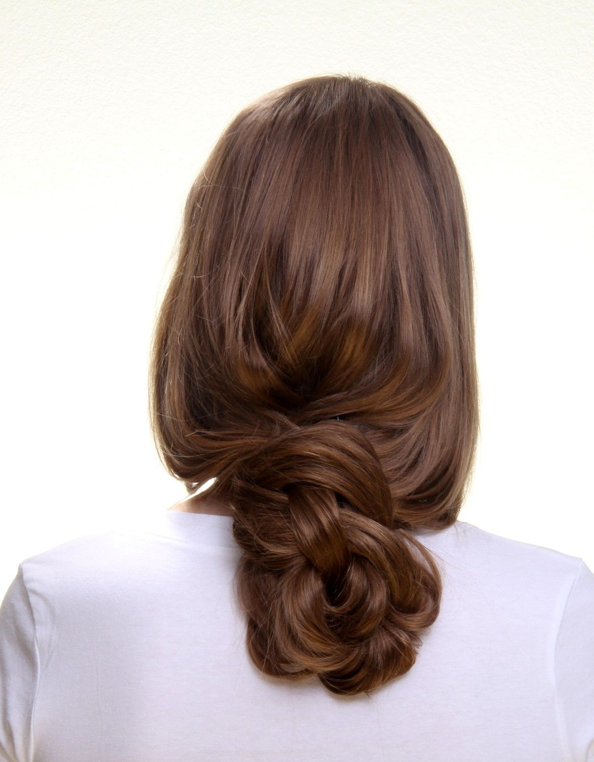 Beautiful Loose Low Bun With 20 Long Clip In Hair Extensions Https