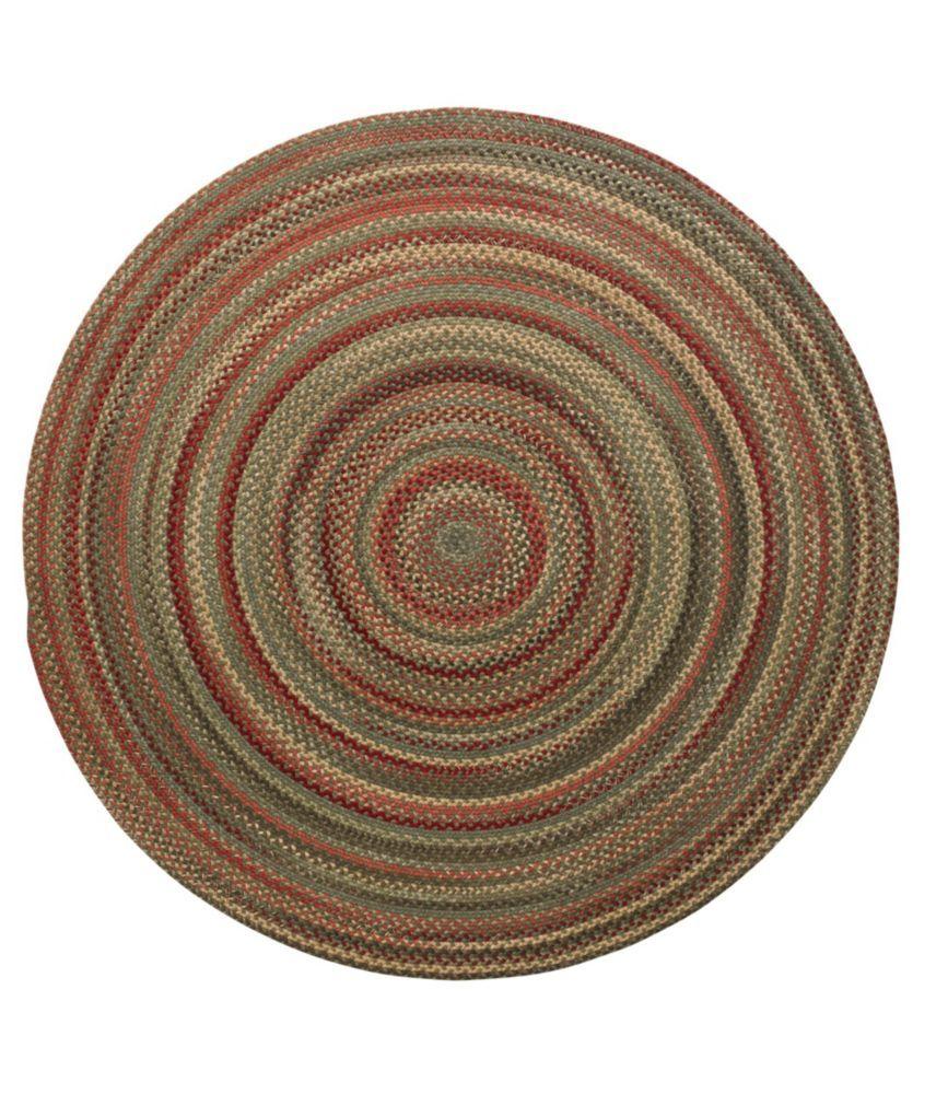 L L Bean Braided Wool Rug 6 Diam In 2020 Braided Wool Rug Round Braided Rug Braided Rugs