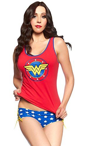 afa2ac54bc DC Comics Wonder Woman Lace Up Cami Panty Set  wonderwoman
