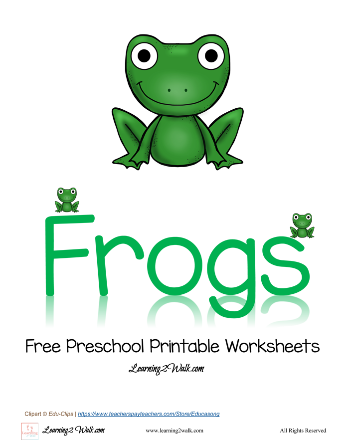 Free Preschool Printable Worksheets: Frog