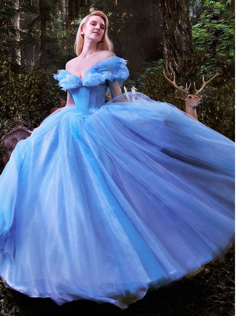 Home Blue Princess Dresses Women Clothing Adult Costume Party Cinderella Dress Bright And Translucent In Appearance