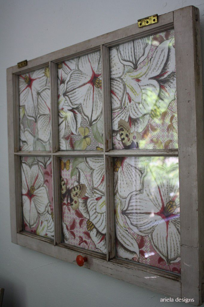 DIY vintage window art