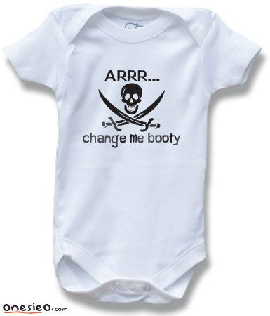 0f8c39dcab37 Change Me Booty Pirate Funny Saying Baby One Piece Bodysuit for Boys and  Girls Cute Baby Shower Gift