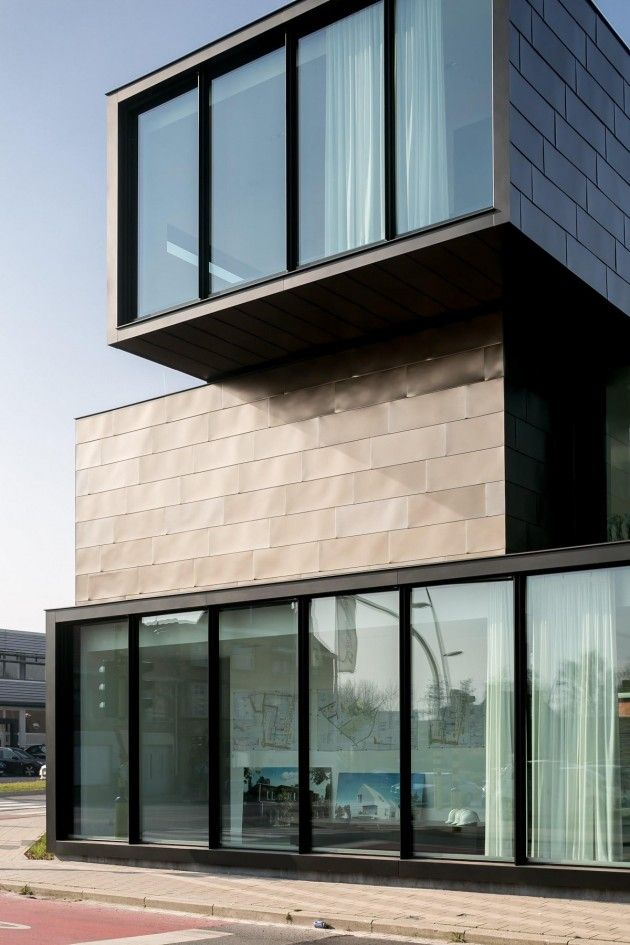 Hectaar office building by caan architecten architecture for Metal building office plans