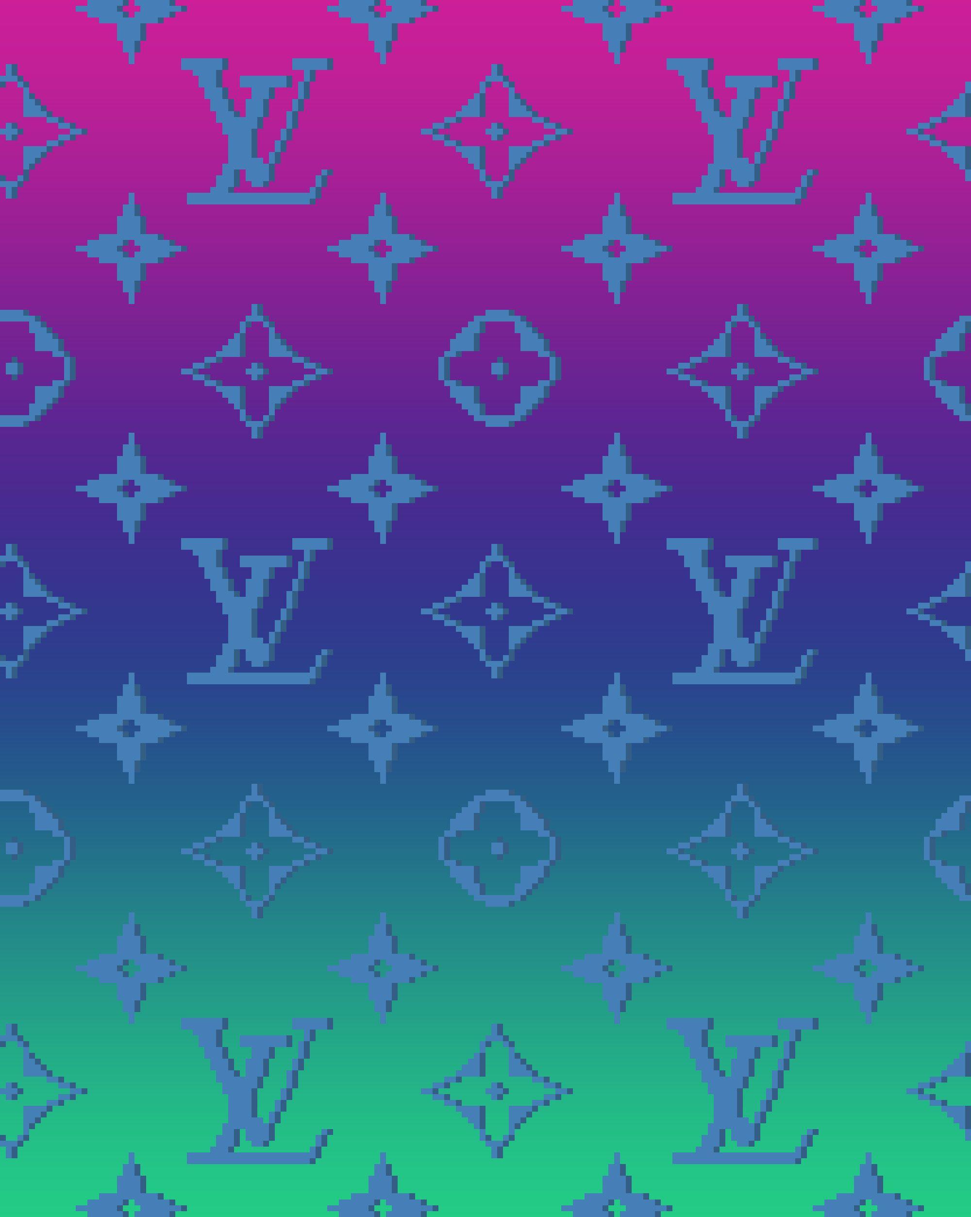 Louis Vuitton Pixel Monogram Pixel Art Cool Wallpaper Photo
