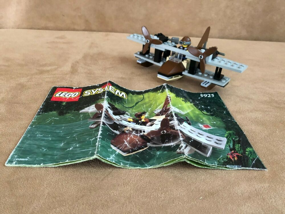 5925 lego complete adventurers jungle pontoon plane