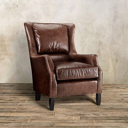 Incroyable Alex Leather Chair In Old West Sandalwood   Arhaus Furniture