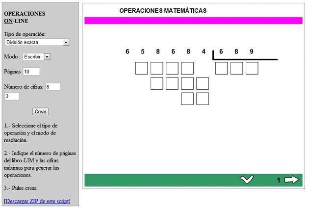 Generador de ejercicios matemáticos para resolver online | Math
