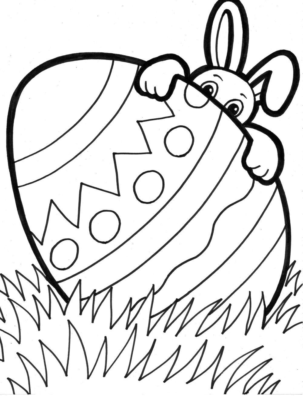 16 super cute and free easter printable coloring pages for kids - Resurrection Coloring Pages Print