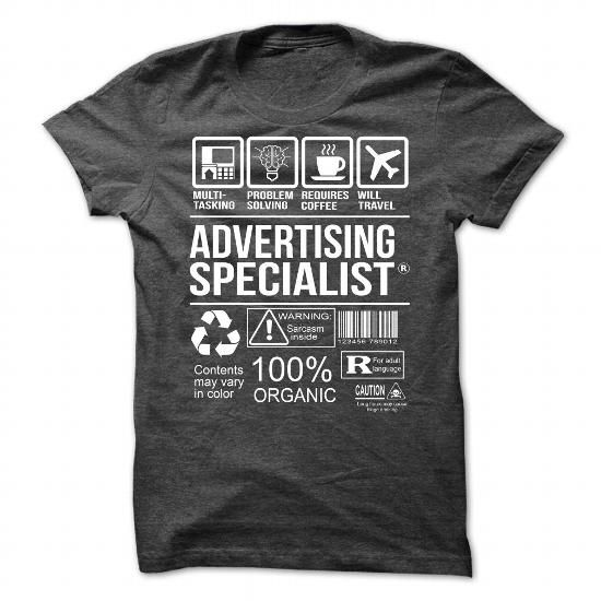 Awesome Tee For Advertising Specialist T Shirts, Hoodie | Design T