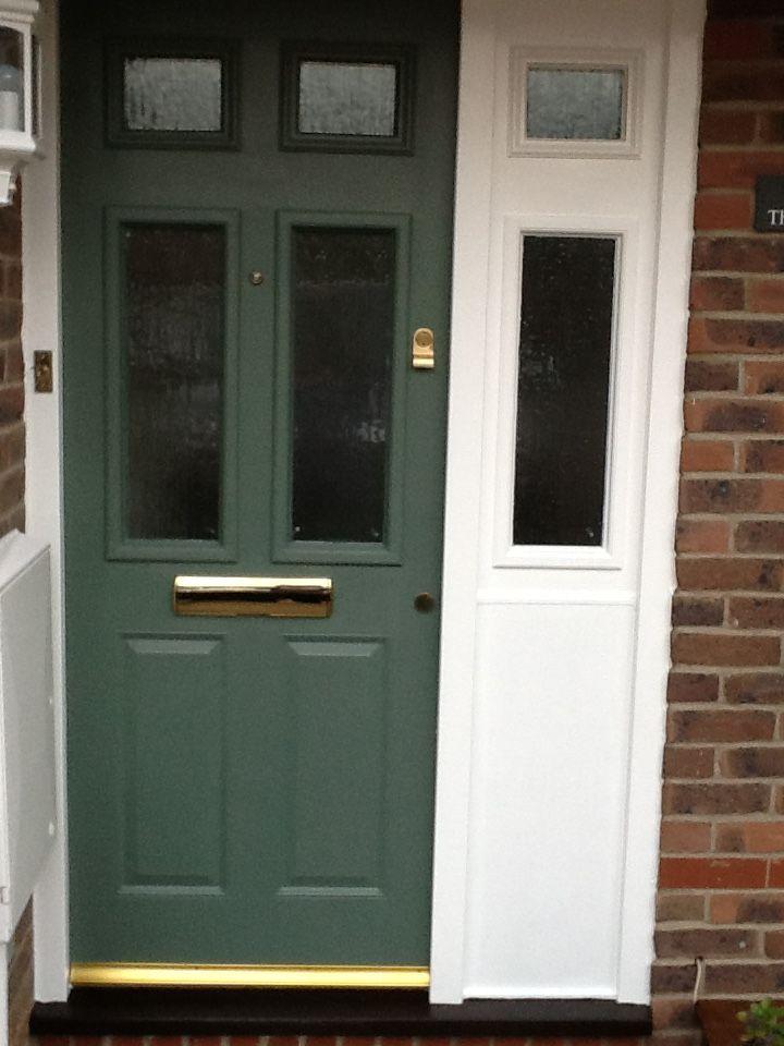 After Farrow Ball Green Smoke Front Door Front Door Doors Outdoor Decor