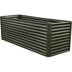 Photo of Outflexx raised bed extension, anthracite, Zincalume, powder coated, 80x90x84 cm