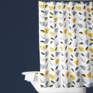 Yellow Black And Gray Shower Curtain