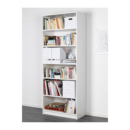 ikea billy boekenkast met de verstelbare planken kan je de opbergruimte naar behoefte indelen