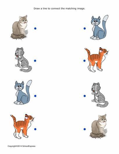 17000 free worksheets animaux domestiques chiens et chats activite - Chat a colorier maternelle ...