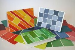 Paint Samples Into Greeting Cards